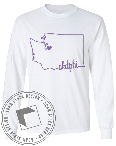 Alpha Kappa Delta Phi Washington Long Sleeve-Adam Block Design