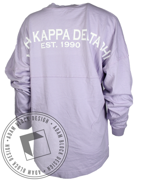 Alpha Kappa Delta Phi Derby Long Sleeve Jersey-Adam Block Design