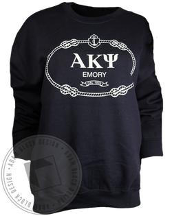 Alpha Kappa Psi Anchor Sweatshirt-Adam Block Design