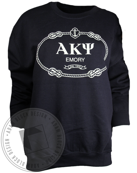 Alpha Kappa Psi Anchor Sweatshirt-gallery-Adam Block Design