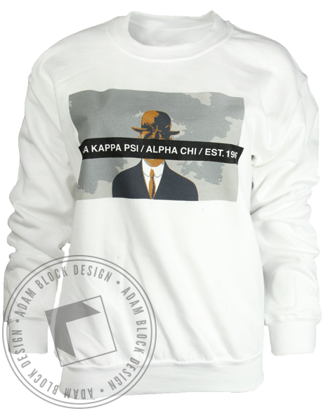 Alpha Kappa Psi Art Sweatshirt-gallery-Adam Block Design