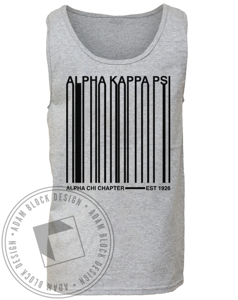 Alpha Kappa Psi Barcode Tank-Adam Block Design