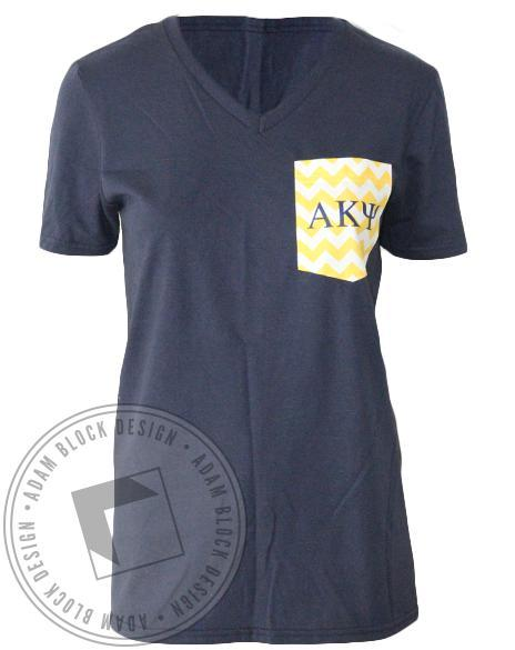 Alpha Kappa Psi Chevron Pocket-gallery-Adam Block Design