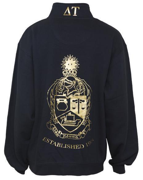 Alpha Kappa Psi Crest Half-zip Sweatshirt-gallery-Adam Block Design