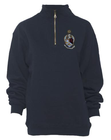 Alpha Kappa Psi Crest Half Zip-gallery-Adam Block Design