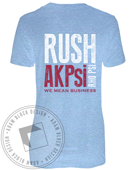 Alpha Kappa Psi Crest Rush Tee-gallery-Adam Block Design