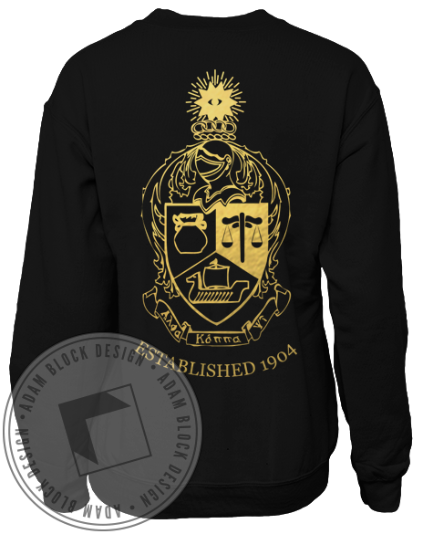 Alpha Kappa Psi Crest Sweatshirt-gallery-Adam Block Design