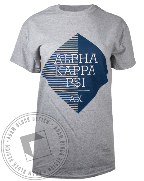 Alpha Kappa Psi Geometric Tshirt-Adam Block Design