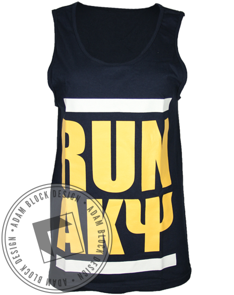 Alpha Kappa Psi Run Tank-gallery-Adam Block Design