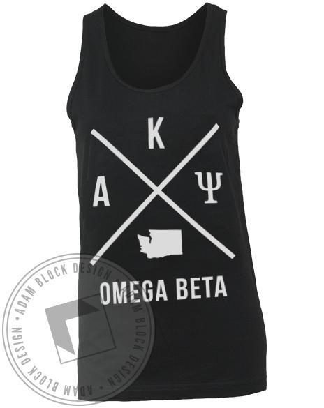 Alpha Kappa Psi State X Logo Tank-gallery-Adam Block Design