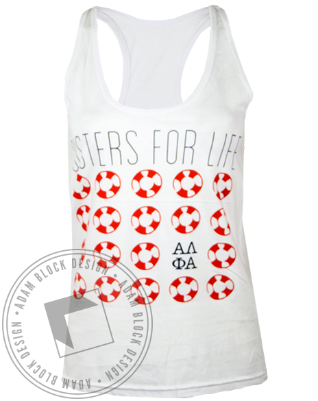 Alpha Lambda Phi Alpha Sisters For Life Tank Top-Adam Block Design