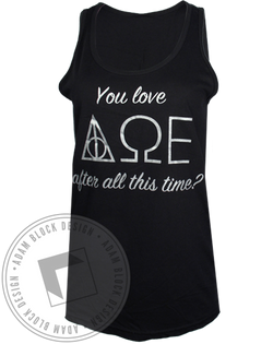 Alpha Omega Epsilon After All This Time Tank Top-Adam Block Design
