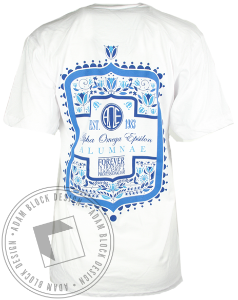 Alpha Omega Epsilon Alumnae Vneck Shirt-gallery-Adam Block Design