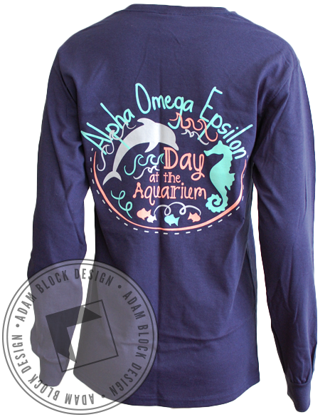 Alpha Omega Epsilon Aquarium Long Sleeve-gallery-Adam Block Design
