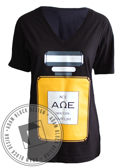 Alpha Omega Epsilon Chanel Vneck-gallery-Adam Block Design