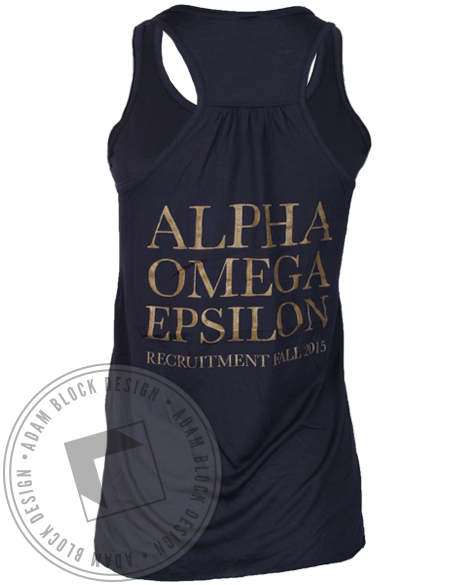 Alpha Omega Epsilon Explore Your Possibilities Tank Top-Adam Block Design