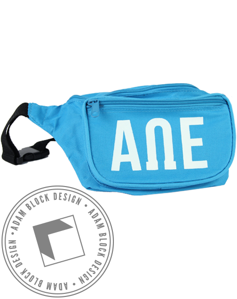 Alpha Omega Epsilon Fannypack-gallery-Adam Block Design