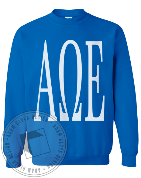 Alpha Omega Epsilon Letter Sweatshirt-gallery-Adam Block Design
