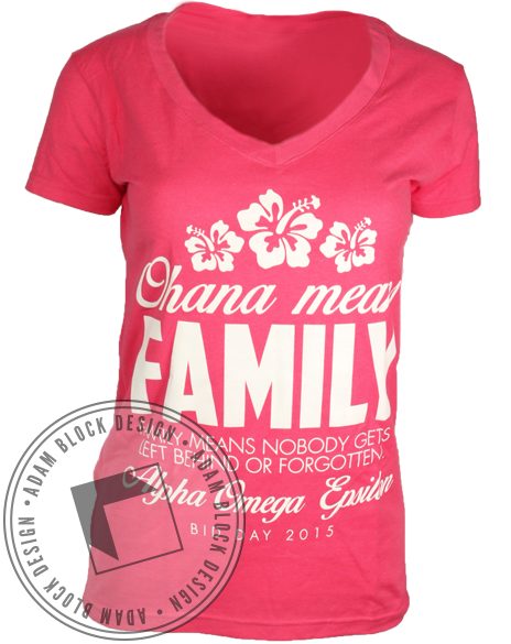 Alpha Omega Epsilon Ohana Vneck-gallery-Adam Block Design