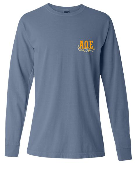 Alpha Omega Epsilon Pumpkin Patch Long Sleeve-Adam Block Design