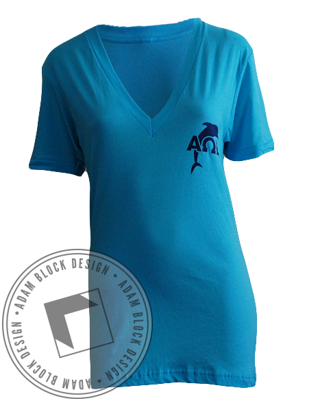 Alpha Omega Epsilon Recruitment Nautical V-Neck-gallery-Adam Block Design