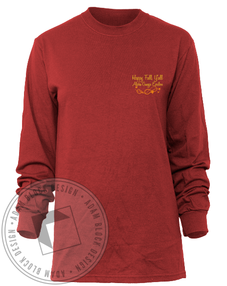 Alpha Omega Epsilon Turkey Long Sleeve-Adam Block Design