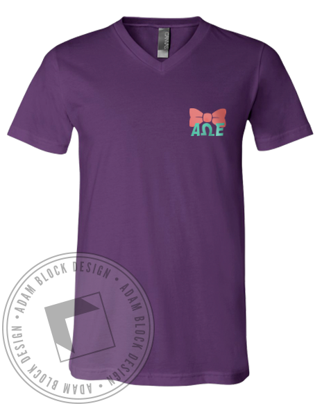 Alpha Omega Epsilon Winner's Circle Vneck-gallery-Adam Block Design