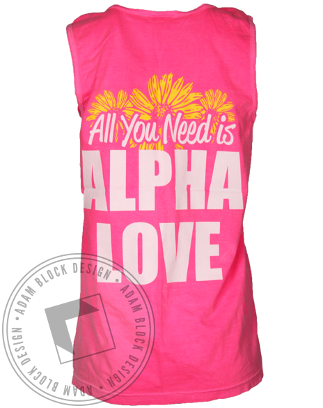 Alpha Omicron Pi All You Need is Alpha Love Tank Top-gallery-Adam Block Design