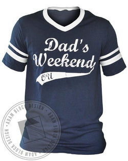 Alpha Omicron Pi AOPi Dad's Weekend Athletic V-Neck-gallery-Adam Block Design