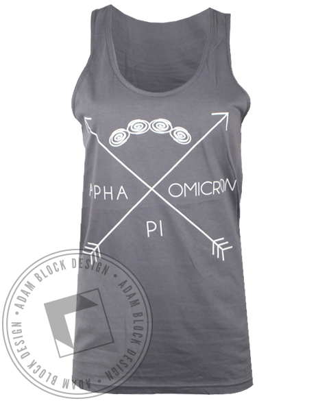 Alpha Omicron Pi Arrows Tank Top-Adam Block Design