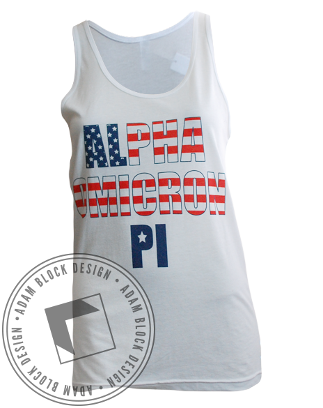Alpha Omicron Pi Bid Day Tank Top-Adam Block Design