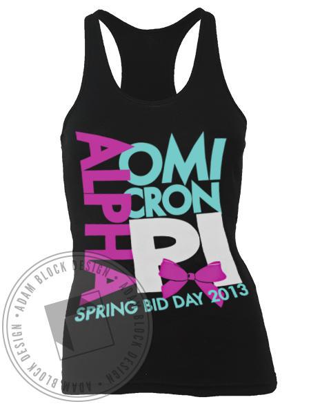 Alpha Omicron Pi Bow Tank Top-Adam Block Design