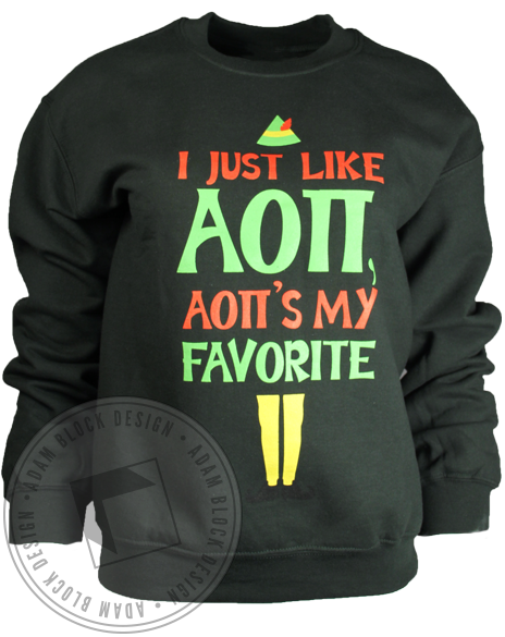Alpha Omicron Pi Favorite Sweatshirt-Adam Block Design