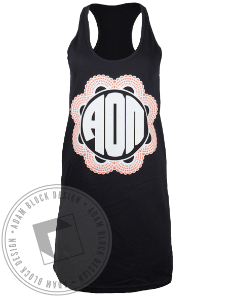 Alpha Omicron Pi Flower Dress-Adam Block Design