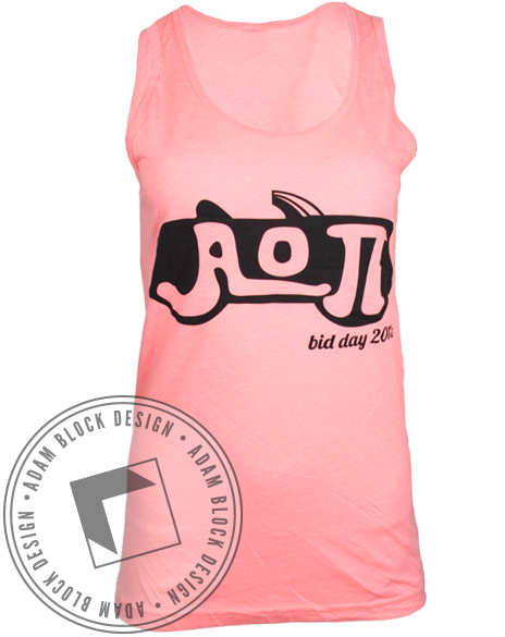 Alpha Omicron Pi Grease Tank Top-Adam Block Design