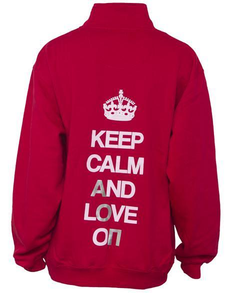 Alpha Omicron Pi Keep Calm Half-Zip-Adam Block Design