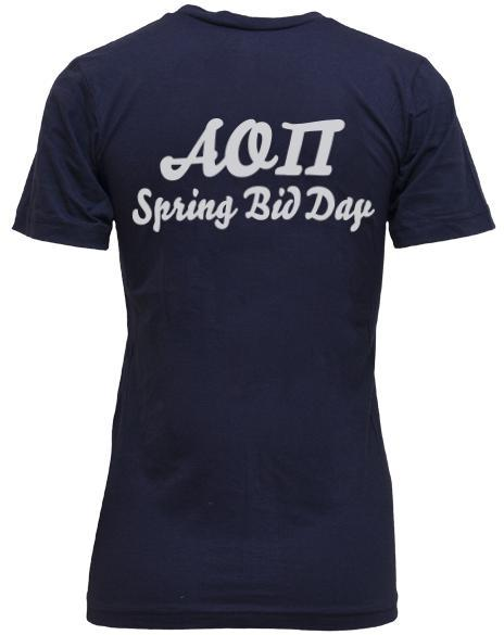 Alpha Omicron Pi Live Laugh Love Spring Bid Day V-Neck-Adam Block Design