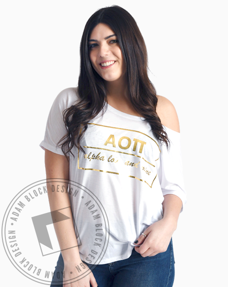 Alpha Omicron Pi Love And Mine T-shirt-Adam Block Design