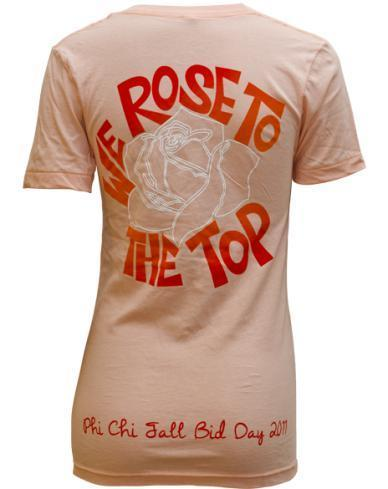 Alpha Omicron Pi Rose V-neck-Adam Block Design