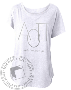 Alpha Omicron Pi Simple Tee Shirt-Adam Block Design