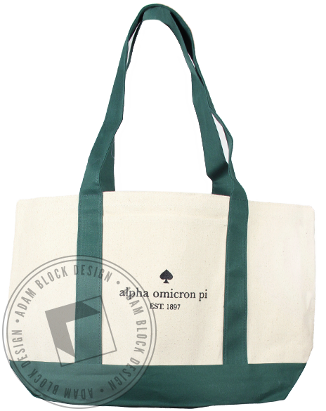 Alpha Omicron Pi Spade Tote Bag-Adam Block Design