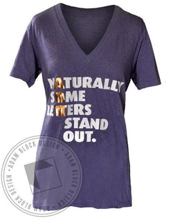 Alpha Omicron Pi Stand Out V-Neck-gallery-Adam Block Design