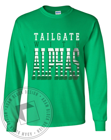 Alpha Omicron Pi Tailgate Long Sleeve-Adam Block Design