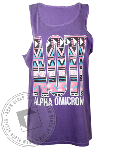 Alpha Omicron Pi Together Purple Tank Top-Adam Block Design