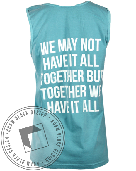 Alpha Omicron Pi Together Tank Top-gallery-Adam Block Design