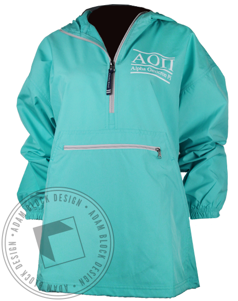 Alpha Omicron Pi Windbreaker Jacket-Adam Block Design