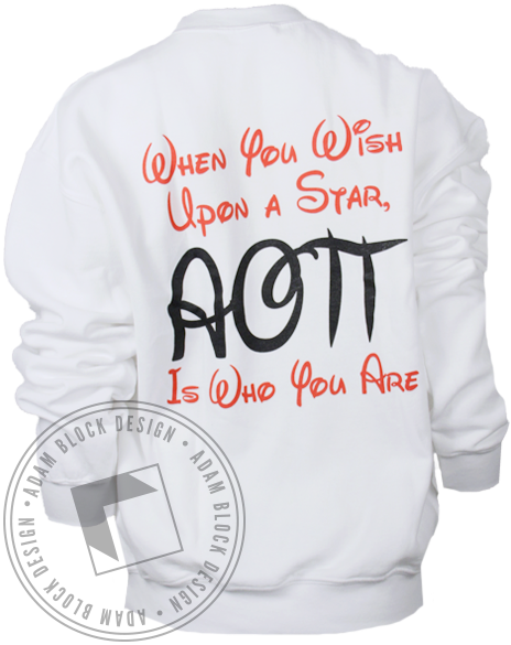 Alpha Omicron Pi Wish Upon a Star Sweatshirt-Adam Block Design