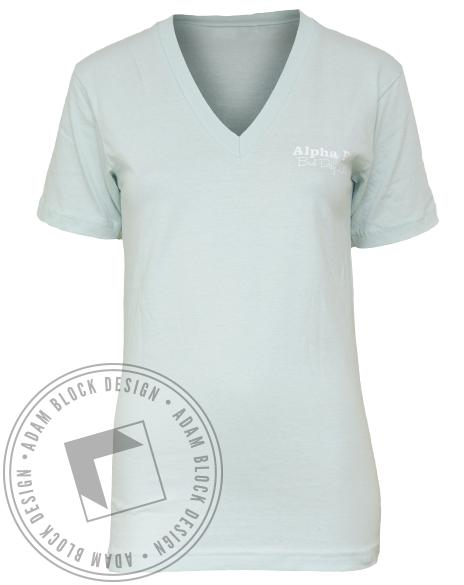 Alpha Phi A List V-neck-Adam Block Design