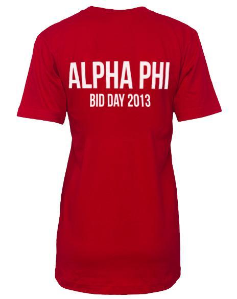 Alpha Phi Act Like A Lady V-neck-Adam Block Design