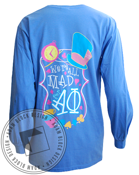 Alpha Phi Alice In Wonderland Longsleeve-Adam Block Design